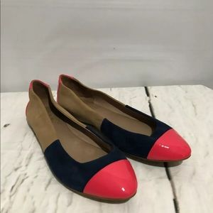 Ella Moss Colorblock Ballet Flats Fine Leather